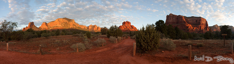 Bell Rock sunrise pano
