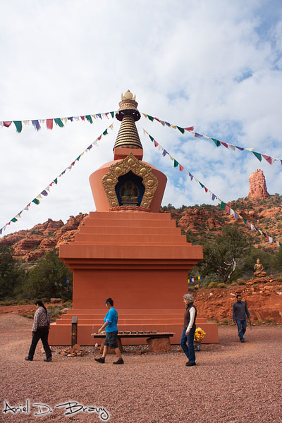 Walking around the stupa